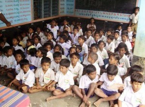 Picture of School where Right to Education Exists.